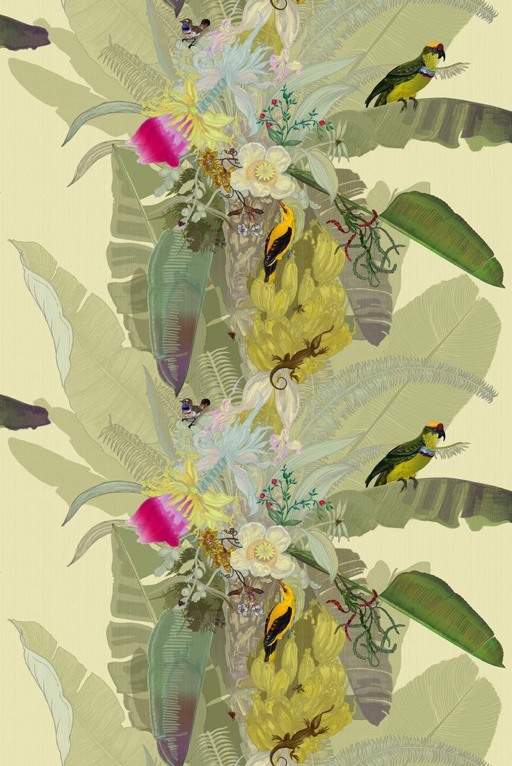 Merian Palm superwide wallpaper @ Timorous Beasties. Hot off the press