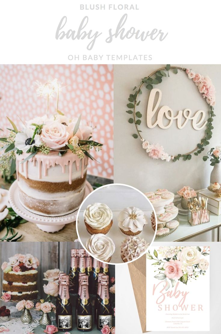 Erröten Pink Floral Baby Shower Einladung, druckbare Einladung, Mädchen-Baby-Dusche, Aquarell Blumen  – Baby Shower Themes // Floral Baby Shower, Garden Party Shower for your Baby Girl