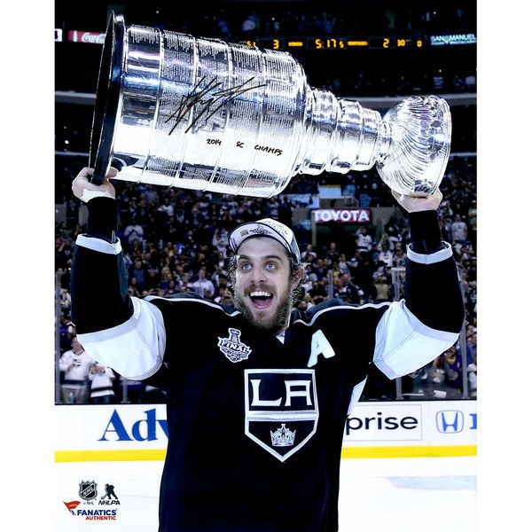 "Anze Kopitar Los Angeles Kings Fanatics Authentic Autographed 16"" x 20"" 2014 Stanley Cup Champions with Stanley Cup Photograph with SC Champs Inscription - $109.99"
