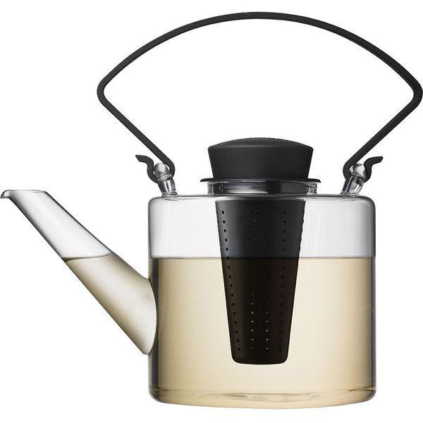 Livellara Cylindrical teapot featuring polyvore, home, kitchen & dining, teapots, tea teapot, modern tea pot, tea pot and modern teapot