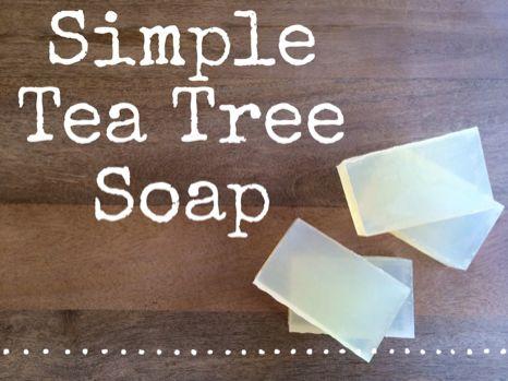 Recipe: Simple Tea Tree Soap! Enjoy! :) http://www.bulkapothecary.com/blog/soap-recipes/recipe-tea-tree-soap/