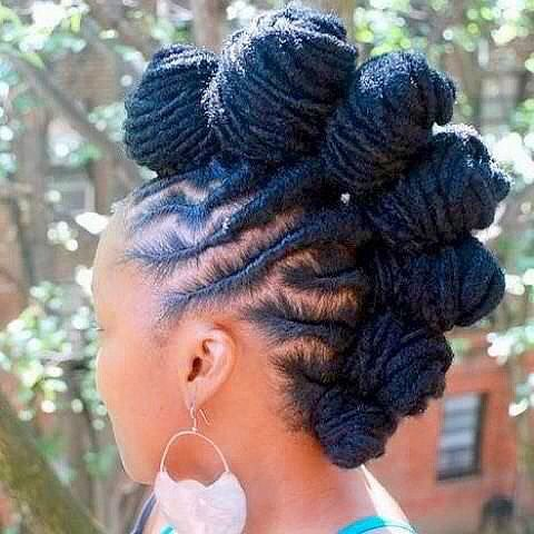 Love this style! Bantu Knot Mohawk on #locs via IG http://ift.tt/1sdm3ik