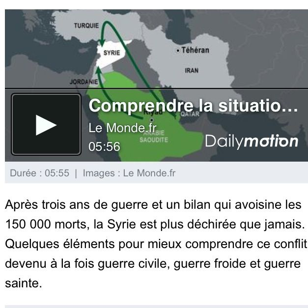Comprendre la situation en #Syrie en 5 minutes