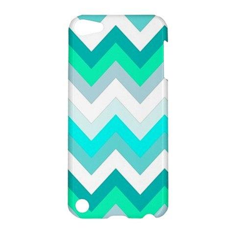 NEW iPod Touch 5 Case Beautiful TIFFANY Chevron Pattern iPod Touch 5 Hardshell Case Chevron Pattern