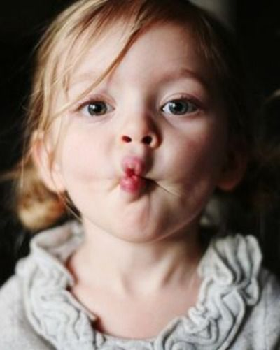 Image result for little girl kiss face