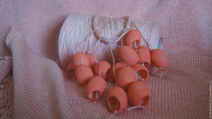 """Купить Сарафан """"Персиковое лето"""" - кремовый, персиковый, розовый, сарафан, украшение, хендмейд, САРАФАН ВЯЗАНЫЙ"""
