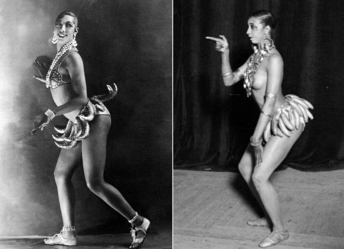 Черная жемчужина варьете Жозефина Бейкер: танцы в костюме из грозди бананов и полный джаз