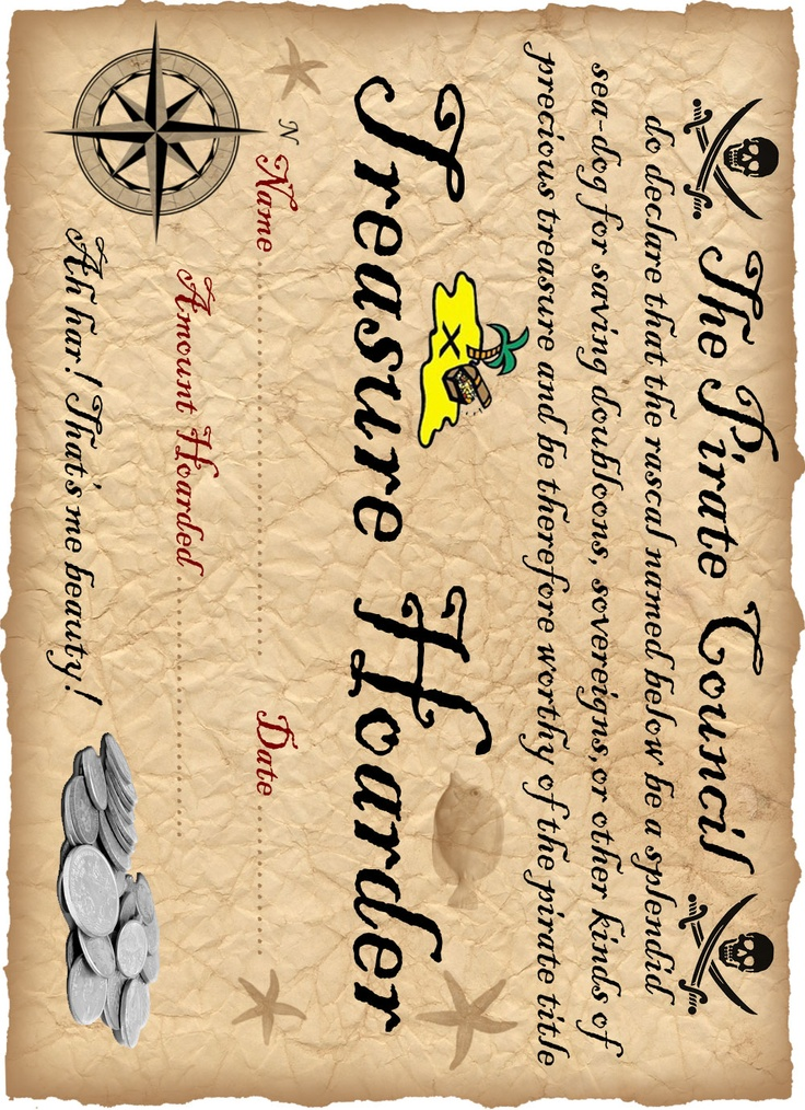 29 best certificate templates images on pinterest certificate the pirate council printable certificate yelopaper Choice Image