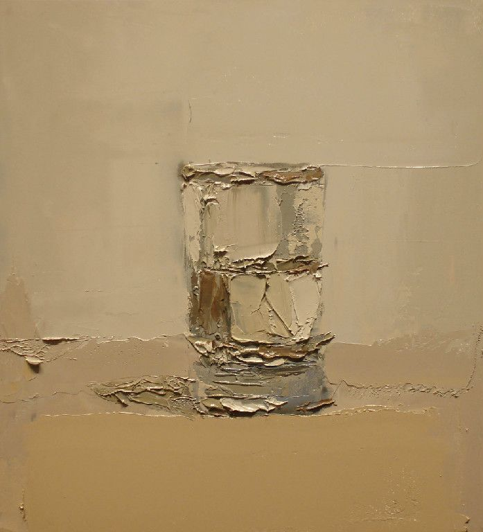 """""""Thick Water glass"""" by Brian Blackham. oil on panel"""