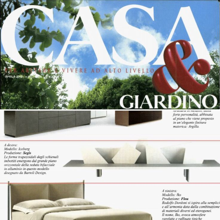 #Iceland by Bartoli Design for Segis is on Casa&Giardino
