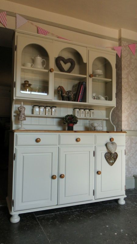 Ducal Pine Dresser Sideboard - Kitchen Unit - hand painted Shabby Chic | eBay