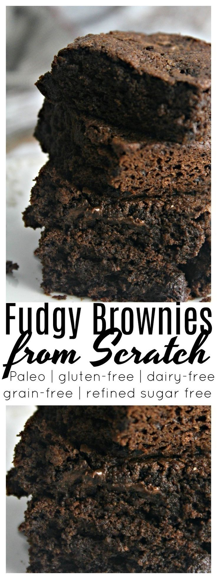The BEST rich, fudgy and decadent brownie you will ever have! These brownies are Paleo, gluten free, dairy free, and refined sugar free.