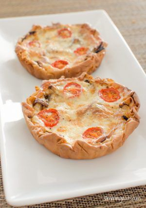 Slimming Eats Caramelized Onion Tart - vegetarian, Slimming World and Weight Watchers friendly