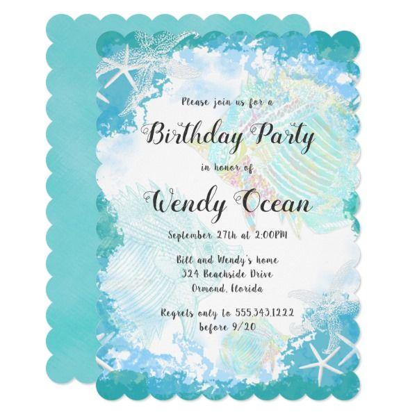 Under The Sea Custom Birthday Party Invitations Zazzle Com With
