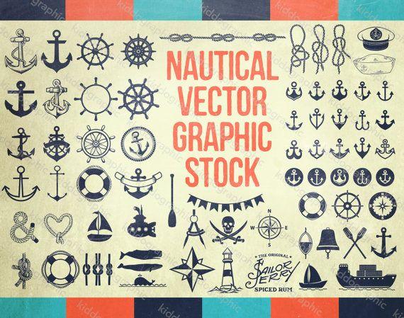 Nautical & Anchor Designs VECTOR Graphic Files por UNIONSTUFF