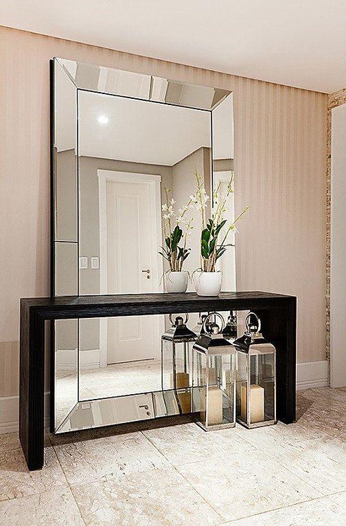 Espelho com Moldura Espelhado e Painel Espelhado   Criado Mudo Espelhado