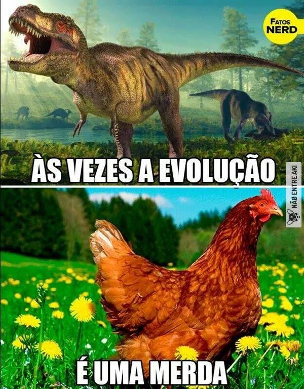 Às vezes a evolução é uma merda