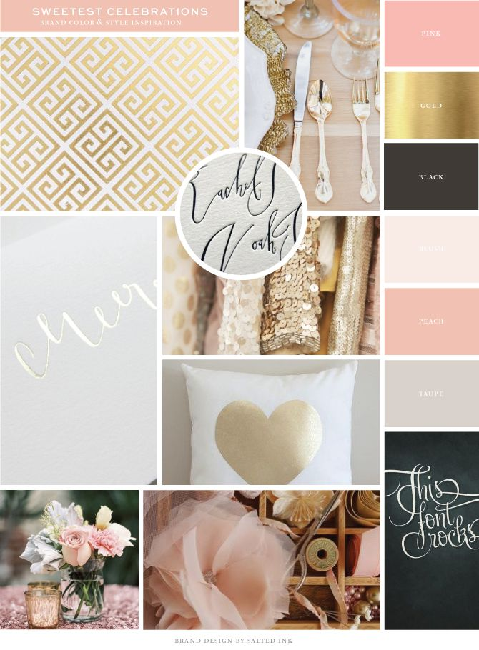 New Brand Launch: Sweetest Celebrations | brand inspiration board by Salted Ink | www.saltedink.com | #brand #color #inspiration
