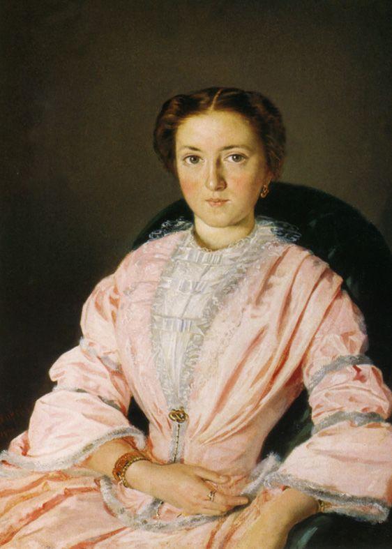 1855 Vasili Pukirev - Portrait of M. N. Obleuhova