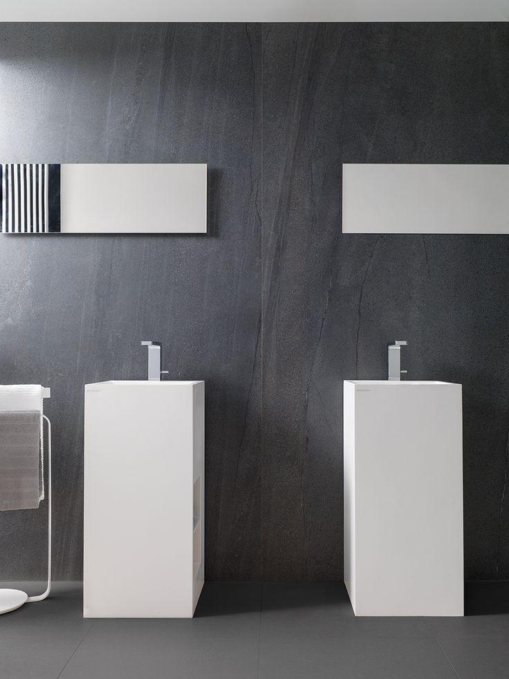 XLIGHT Premium Aged Dark  - #URBATEK #PORCELANOSA - Gres porcelánico de fino espesor - Porcelain Stone Tile, Marble Floor Tile - #stoneware #precious #stones #marble #porcelain #tile #porcelaintiles #floors #ceramics #design #architecture #dark #grey #bathroom #krion #noken #lounge