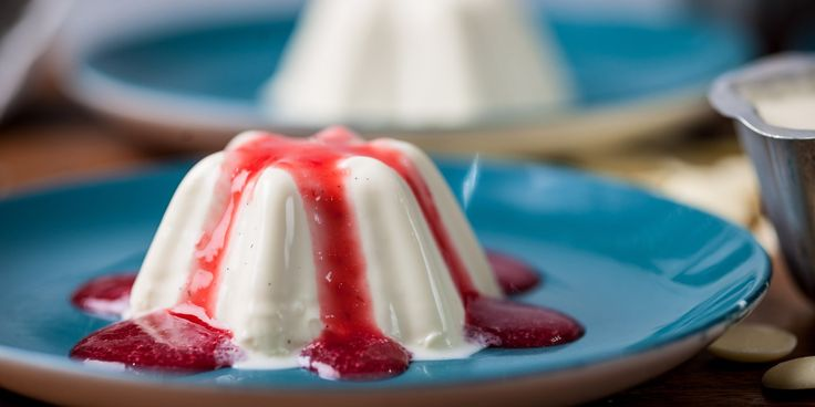 A deceptively simple white chocolate panna cotta recipe, served with a delicious raspberry sauce from Paul Ainsworth