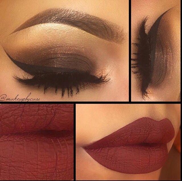 Dark Gold Eye and Maroon Lip
