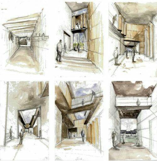 Interior Design Color Sketches 59 best perspectiva central un punto de fuga images on pinterest