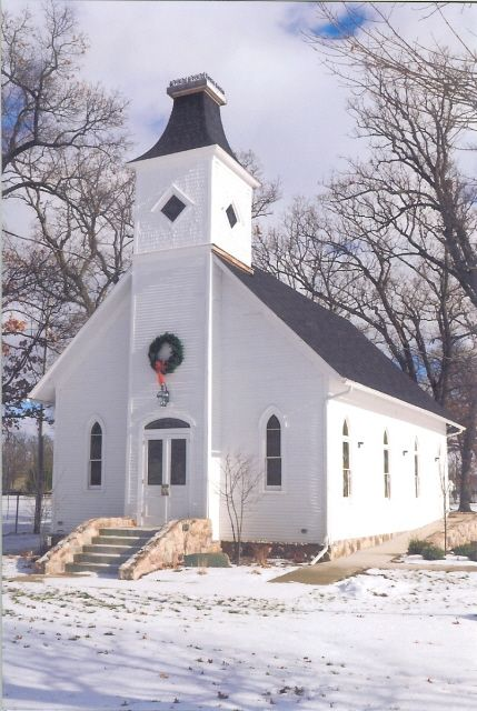 1800s Country Homes: Old Maple Grove Church, Built In 1901, Marshall, Michigan