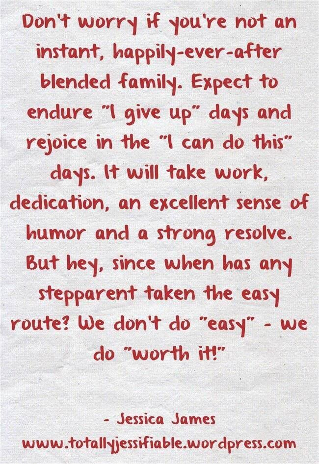 Blended family strong! Step parents quotes, Step dad