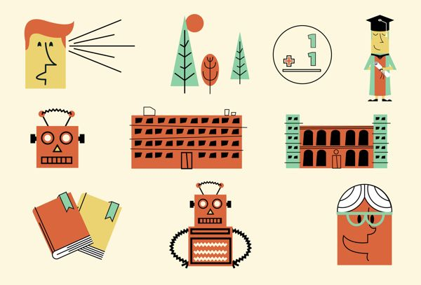 Infographic Character Illustrations by Adam Grason, via Behance
