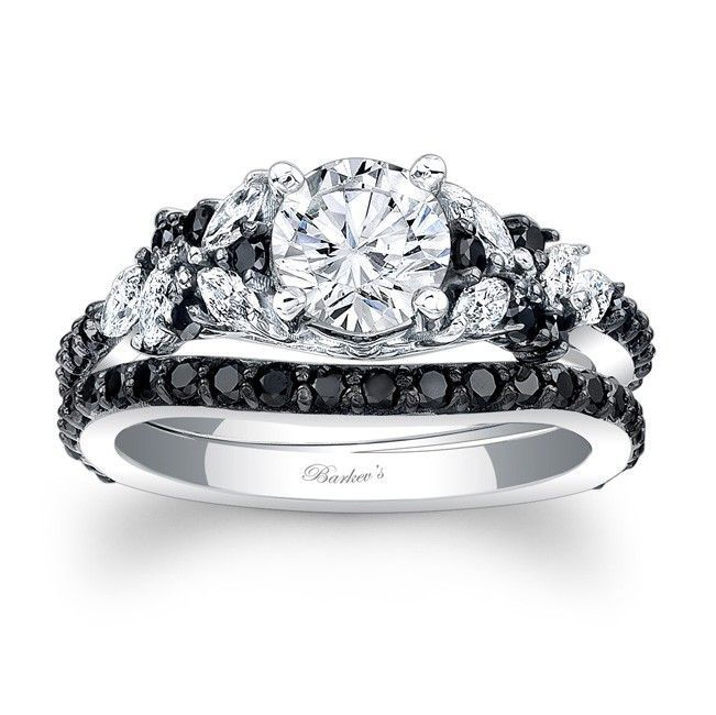 17 Best ideas about Black Diamond Wedding Rings on Pinterest