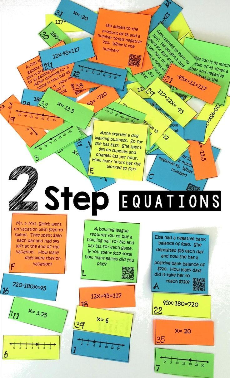 Writing Solving Two Step Equations On A Number Line Two Step Equations Word Problems Math Word Problems