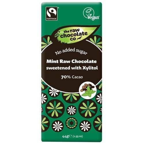 Ingredienser: Kakao* **, xylitol, virgin kakaosmör* **, mintolja*. * ekologiskt** Fairtrade Kan innehålla spår av nötter.
