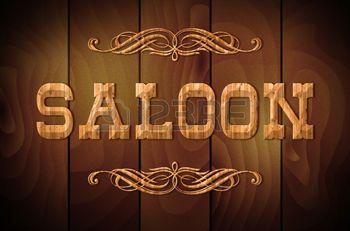 saloon western: Panneau en bois SALOON et ornements ...