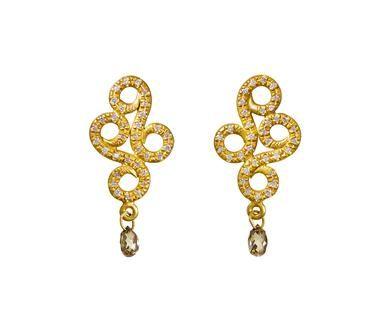 Reinstein / Ross Diamond Arabesque Earrings with Brown Diamonds  $4,900.00