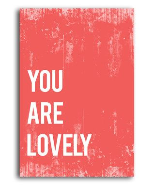 Red 'You Are Lovely' Print