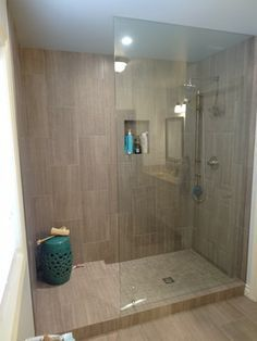 Doorless Glass Shower Google Search Bathroom Remodel