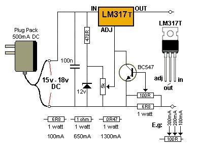 Circuito de Mini Fonte com Tensão Ajustável e Limitador Variável de Corrente