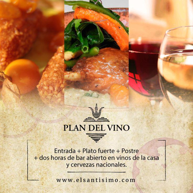 El vino estará por dos horas a tu placer, como lo mereces. #RestauranteElSantísimo #Cartagena #Vinos #Postres #Sabor #Caribe.