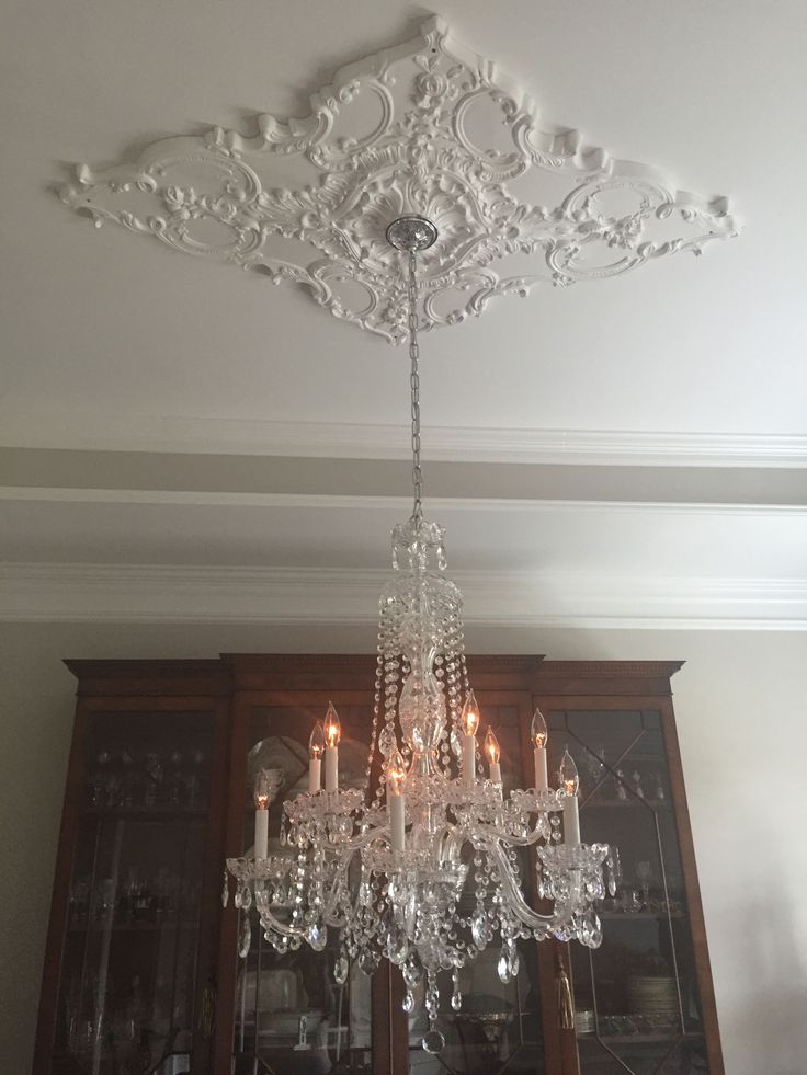 stencil stenciled by wolfrum gina ceiling designs custom medallion using modello pin chandelier