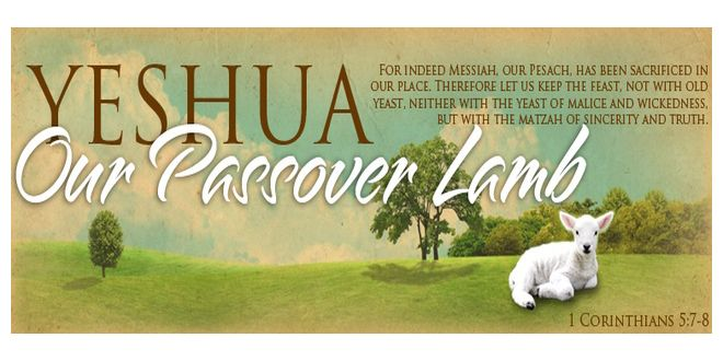 Yeshua Messiah (Jesus Christ) our Passover Lamb