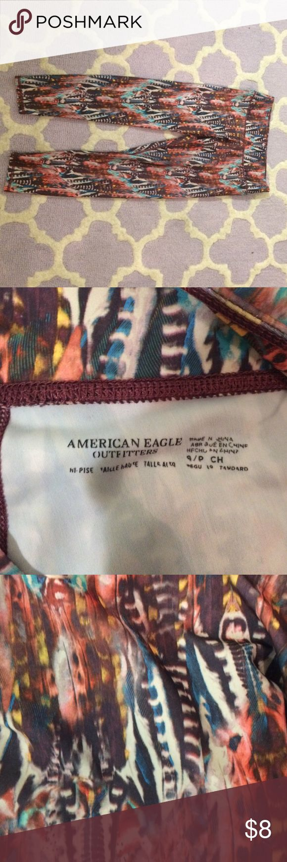 American Eagle High Rise Cropped Leggings These leggings are perfect for any workout! Super comfortable and great condition! American Eagle Outfitters Pants Leggings