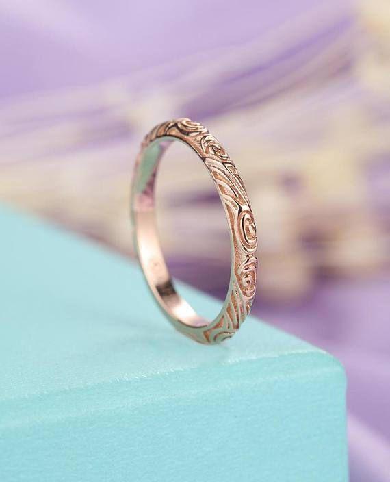 Fancy Solid 14k Rose Gold Wedding Band Full Eternity Women S Diamonds Engagement Ring Pro 14k Rose Gold Wedding Band Gold Wedding Band Rose Gold Wedding Bands
