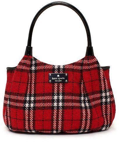 Kate Spade plaid bag. love! ........red white black