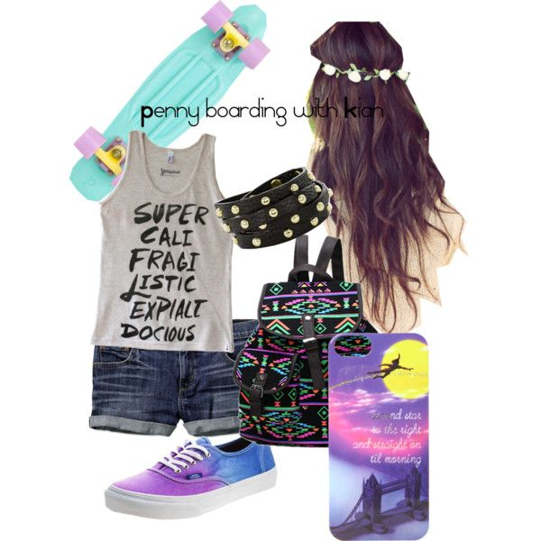 """""""Penny boarding with Kian Lawley"""" by emmaervin on Polyvore"""
