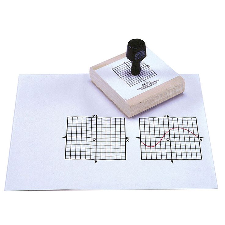"""This 144 block grid stamp is 3"""" x 3"""" in size. The X and Y axis are highlighted and marked. The intersect is also marked at 0."""