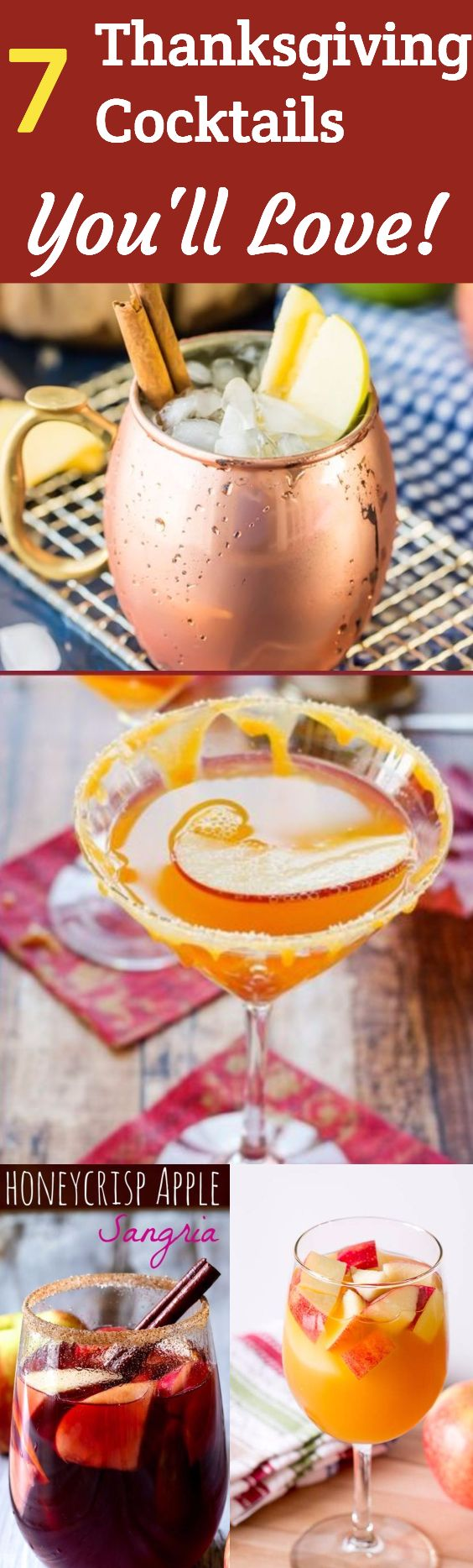 Thanksgiving Cocktails - Impress your guests with these delightful Thanksgiving cocktails! They're the perfect autumn-themed drinks to have before or after the big meal. #ThanksgivingIdeas via @camdenmcl
