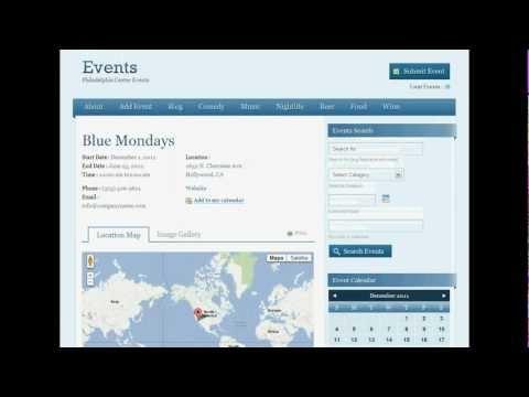 Demostración Video Sistema Autoadministrable  de Publicación de Eventos Sociales
