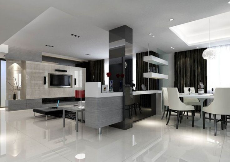 wall between dinning room and living room | Dining room partition ...