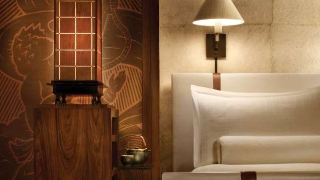 Lanai Luxury Hotels | Four Seasons Resort Lanai, Hawaii featuring Casella Lighting custom lighting wall lamps.